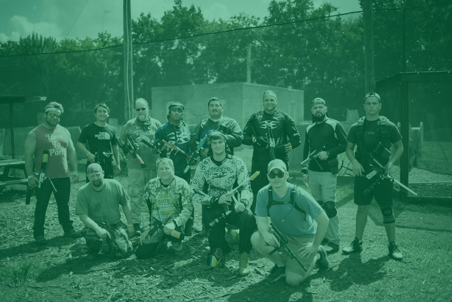 paintball players at the pump league