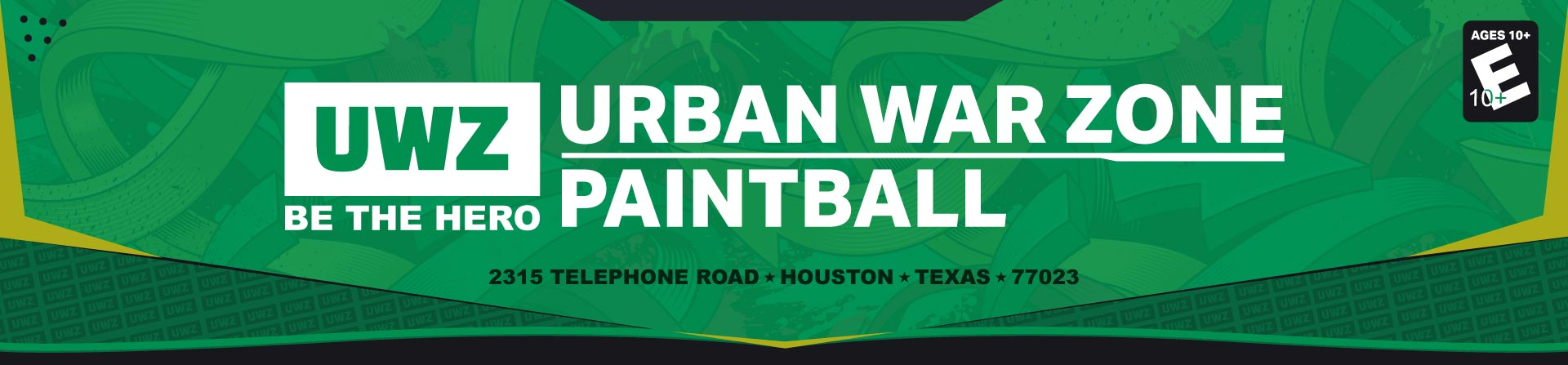 Logo for Urban War Zone Paintball in Houston, Tx