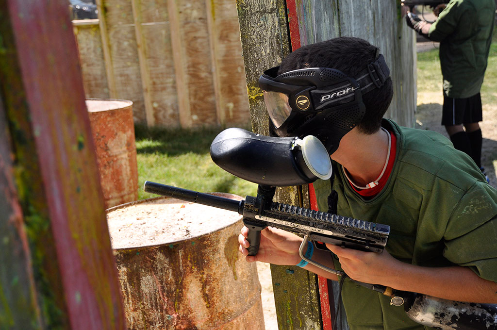 Capture the flag paintball picture